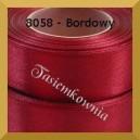 Tasiemka satynowa 50mm kolor 8058 bordowy.