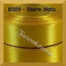 Tasiemka satynowa 25mm kolor 8009 stare złoto/ 6szt.