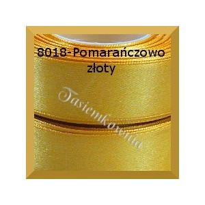 Tasiemka satynowa 25mm kolor 8018 pomarańczowo złoty/ 6szt.