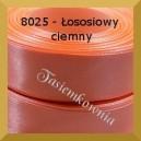 Tasiemka satynowa 25mm kolor 8025 łososiowy ciemny/ 6szt.