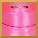 Tasiemka satynowa 25mm kolor 8039 pink/ 6szt.