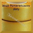 Tasiemka satynowa 6mm kolor 8018 pomarańczowo-złoty/ 20szt.