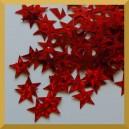 Cekiny gwiazdki czerwone
