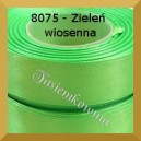 Tasiemka satynowa 25mm kolor 8075 zieleń wiosenna/ 6szt.
