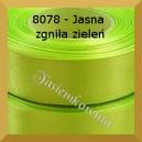 Tasiemka satynowa 25mm kolor 8078 jasna zgniła zieleń/ 6szt.