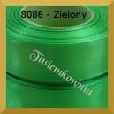 Tasiemka satynowa 25mm kolor 8086 zielony/ 6szt.