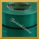 Tasiemka satynowa 25mm kolor 8090 ciemno zielony/ 6szt.