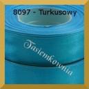 Tasiemka satynowa 25mm kolor 8097 turkusowy/ 6szt.