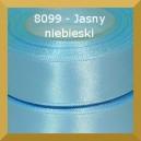 Tasiemka satynowa 25mm kolor 8099 jasny niebieski/ 6szt.