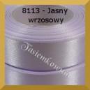 Tasiemka satynowa 25mm kolor 8113 jasny wrzosowy/ 6szt.