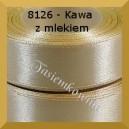 Tasiemka satynowa 25mm kolor 8126 kawa z mlekiem 6szt.