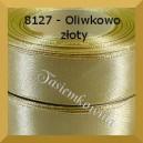 Tasiemka satynowa 25mm kolor 8127 oliwkowo-złoty 6szt.