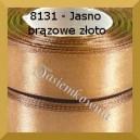 Tasiemka satynowa 25mm kolor 8131 jasno brazowe złoto 6szt.