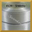 Tasiemka satynowa 25mm kolor 8139 srebrny/ 6szt.