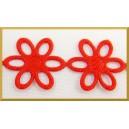 Kwiatuszki ażurowe duże czerwone