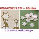 Gwiazdki z drewna osikowego duże 5cm