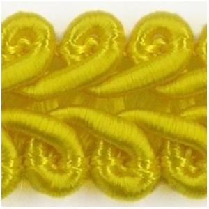 Taśma pleciony wężyk żółta 1mb