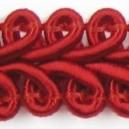 Taśma pleciony wężyk czerwona 1mb
