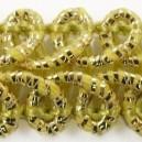 Taśma pleciony wężyk kremowo-złota metalizowana 1mb