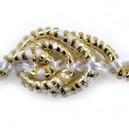 Taśma ślimaczki perłowo-złota metalizowana 1mb