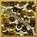 Cekiny 8mm łamane złote metaliczne 5g