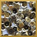 Cekiny 8mm łamane jasno złote metaliczne 5g