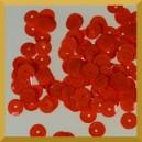 Cekiny kółka łamane 6mm 17g pomarańczowe matowe b14