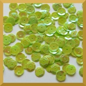Cekiny 6mm - 12g zielone opalizujące