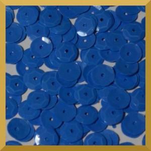 Cekiny kółka łamane 6mm - 12g niebieskie matowe