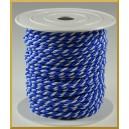 Sznurek oplatany 3,2mm biało-niebieski/ 1m