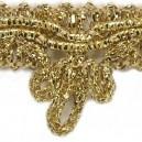 Taśma dekoracyjna kokardka złota 1mb