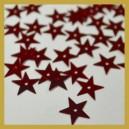 Cekiny gwiazdki czerwone metaliczne