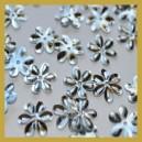 Cekiny kwiatuszki srebrne metaliczne