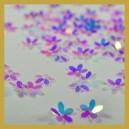 Cekiny kwiatuszki małe- białe opalizujące