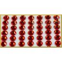 Naklejane diamenty dekoracyjne samoprzylepne CZERWONE 140szt