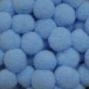 Pompony 13mm błękitne 100szt