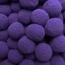 Pompony 13mm fioletowe 100szt