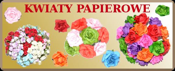 kwiaty kwiatki kwiatuszki papierowe