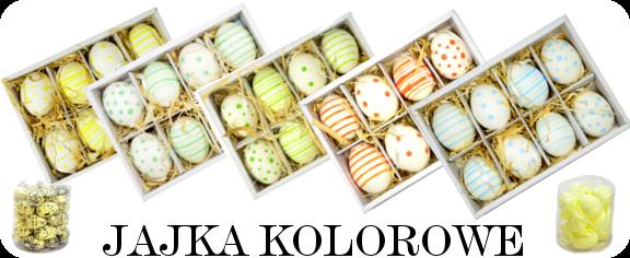 Jajka naturalne kolorowe