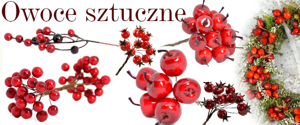Owoce sztuczne jagódki jarzębina