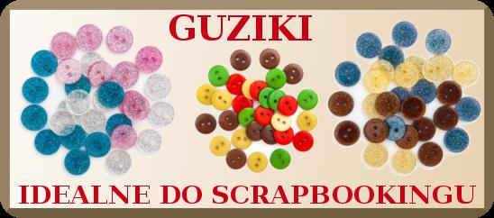 Guziki scrapbooking